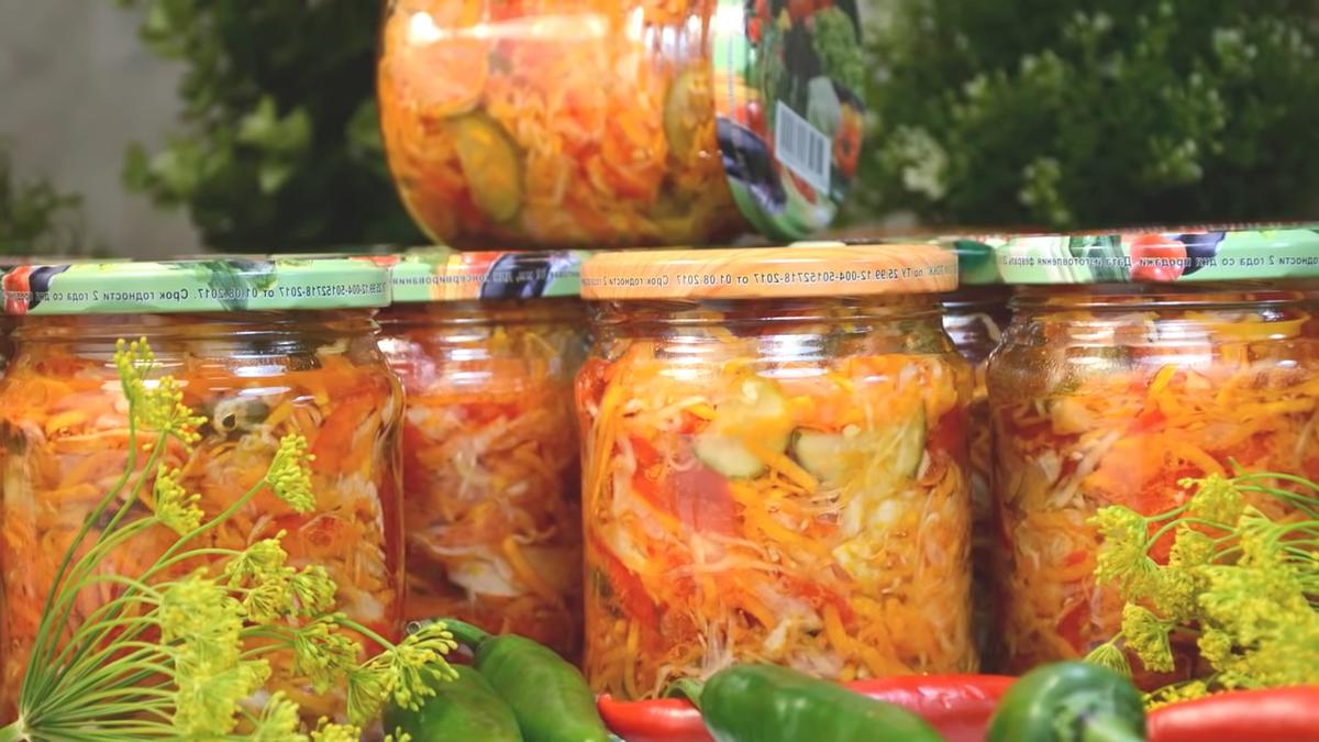 Овощной салат из Кубани на зиму. Нравится всей моей семье